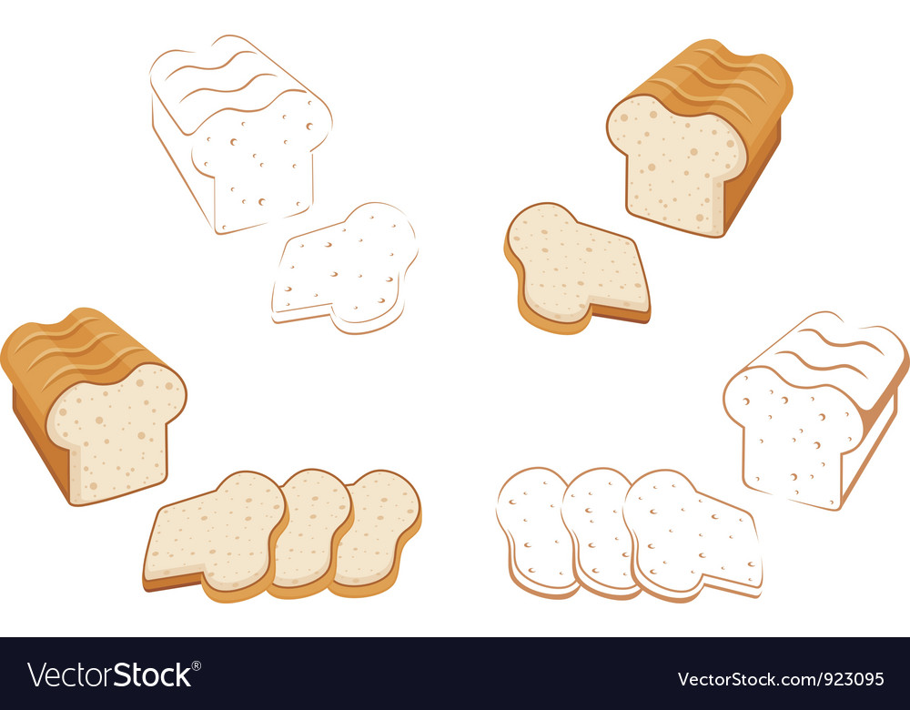 Set of bread vector | Price: 1 Credit (USD $1)