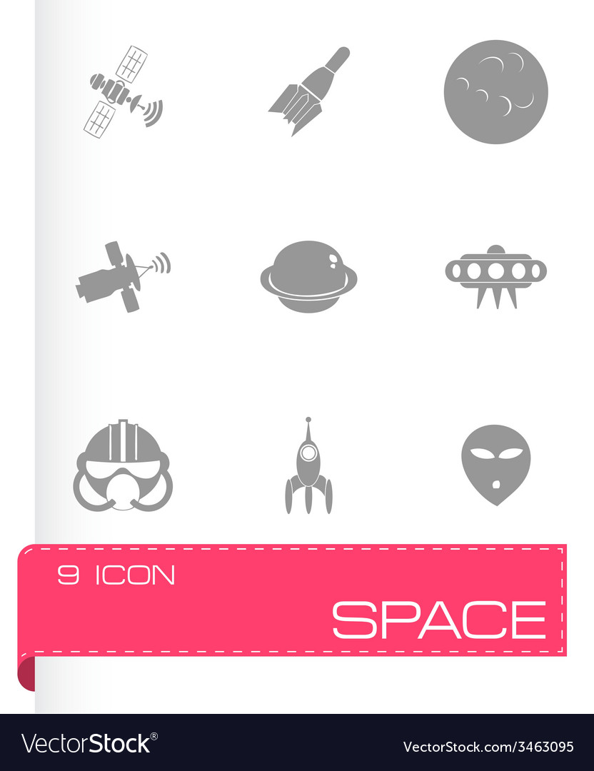 Space icon set vector | Price: 1 Credit (USD $1)