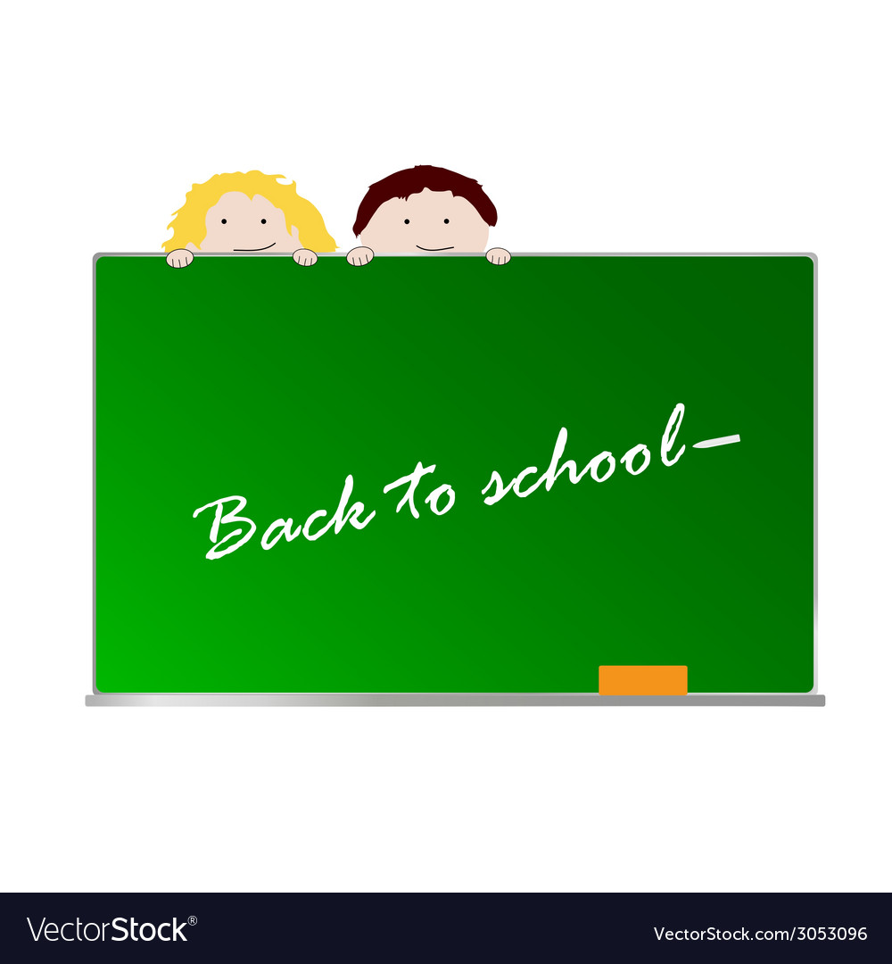 Back to school with children color art vector | Price: 1 Credit (USD $1)