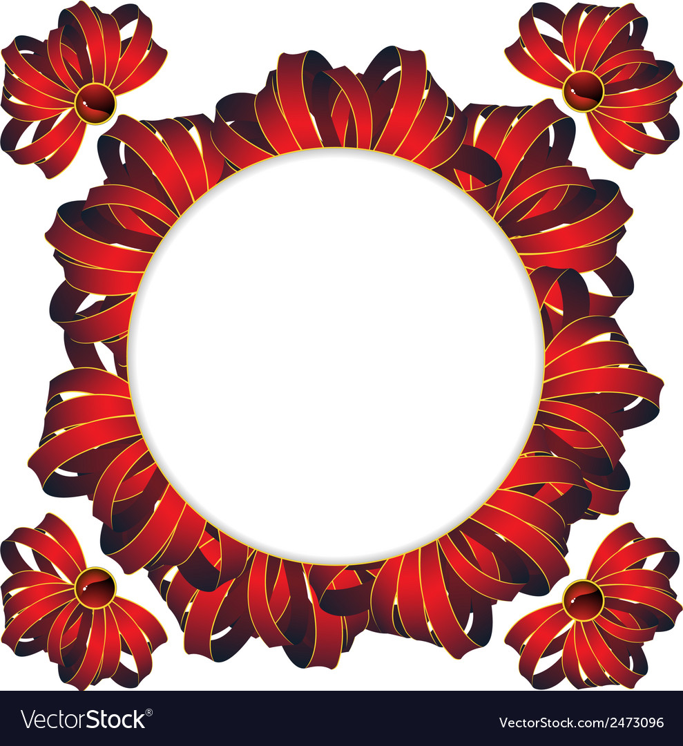 Circle frame with bows vector | Price: 1 Credit (USD $1)