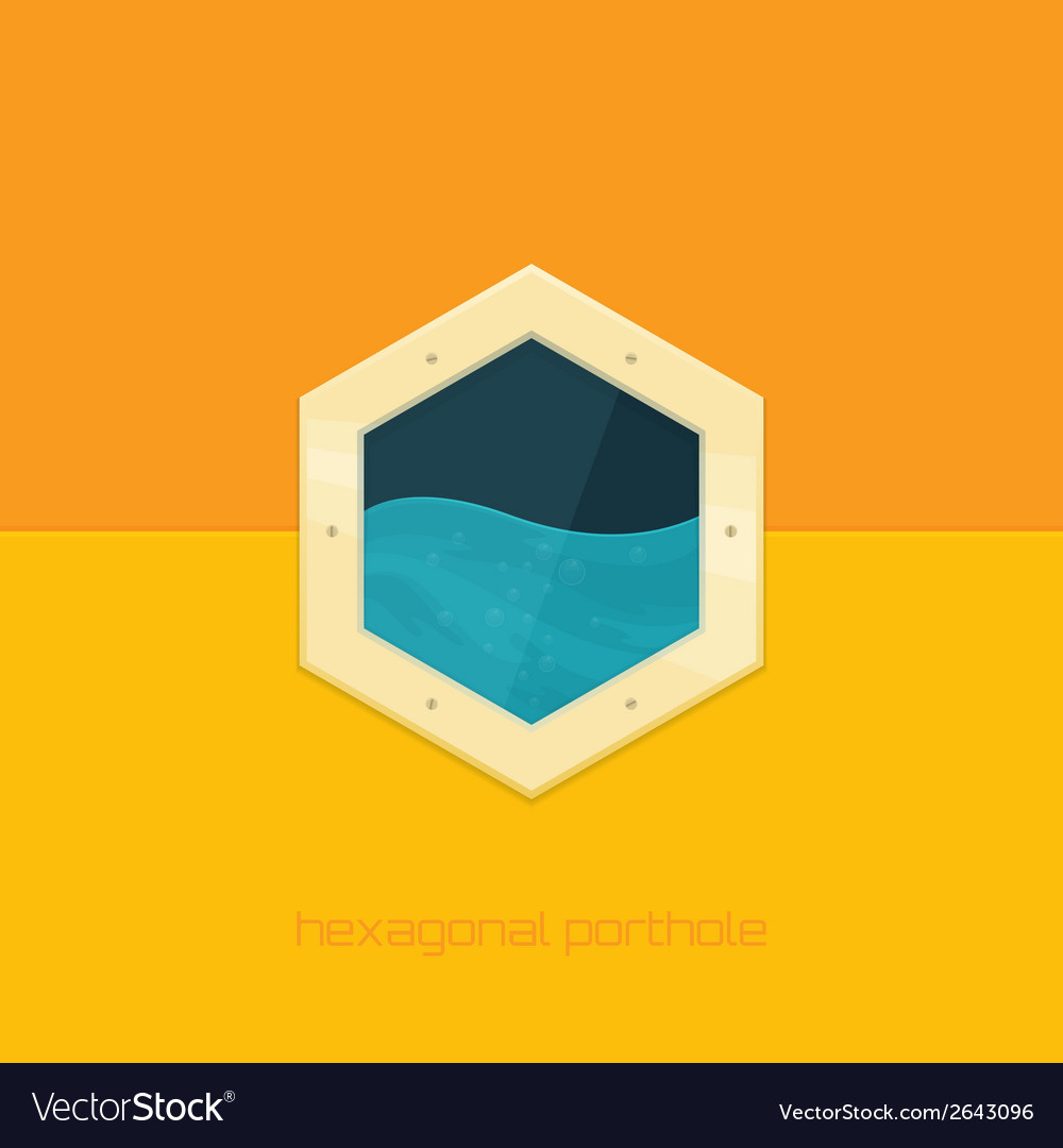 Hexagonal porthole vector | Price: 1 Credit (USD $1)