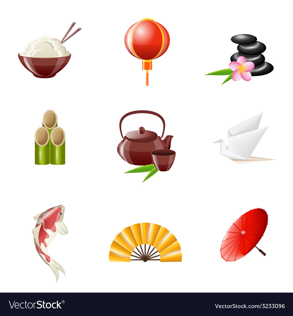Japanese icon realistic vector | Price: 1 Credit (USD $1)
