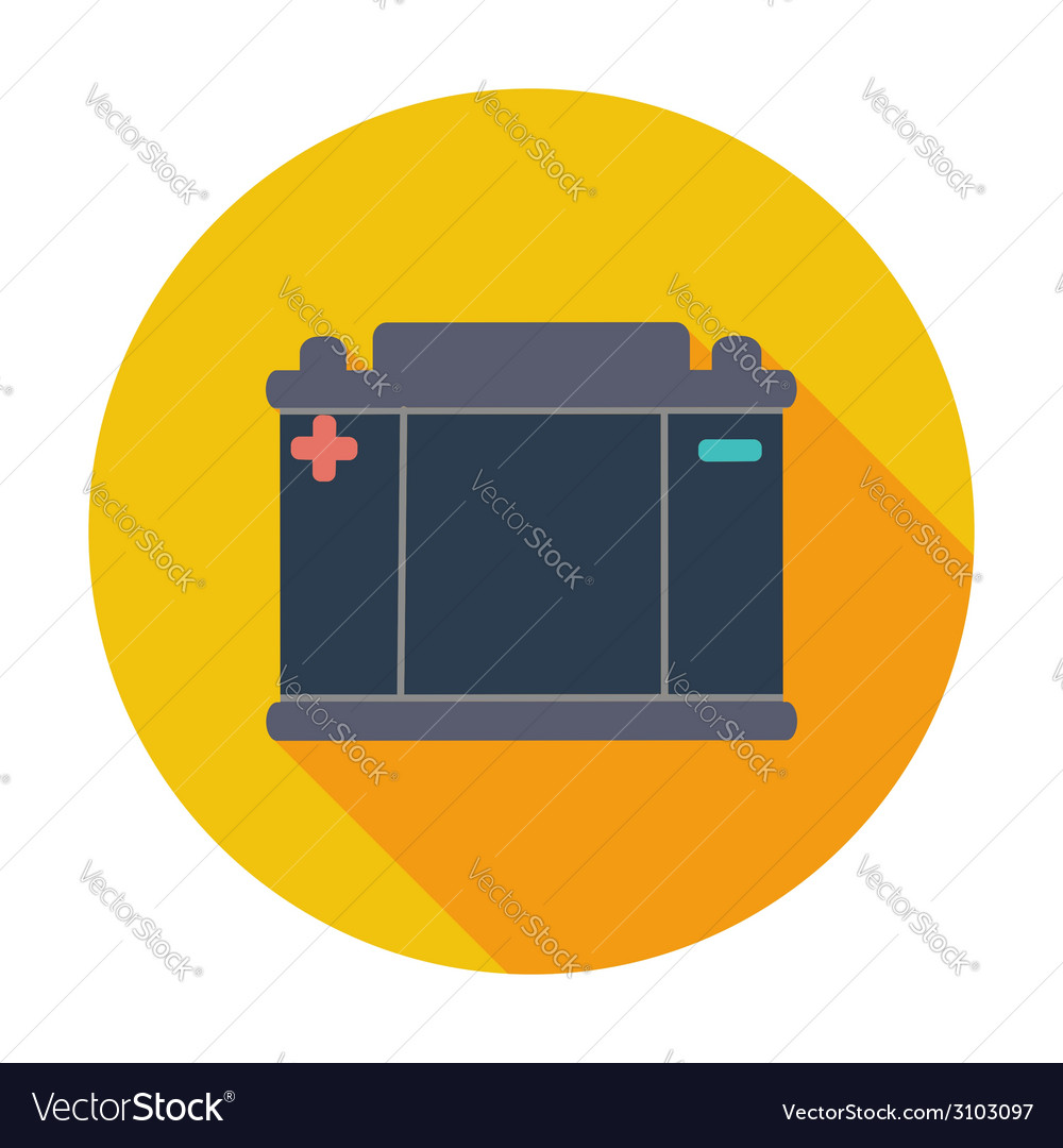Battery flat icon vector   Price: 1 Credit (USD $1)