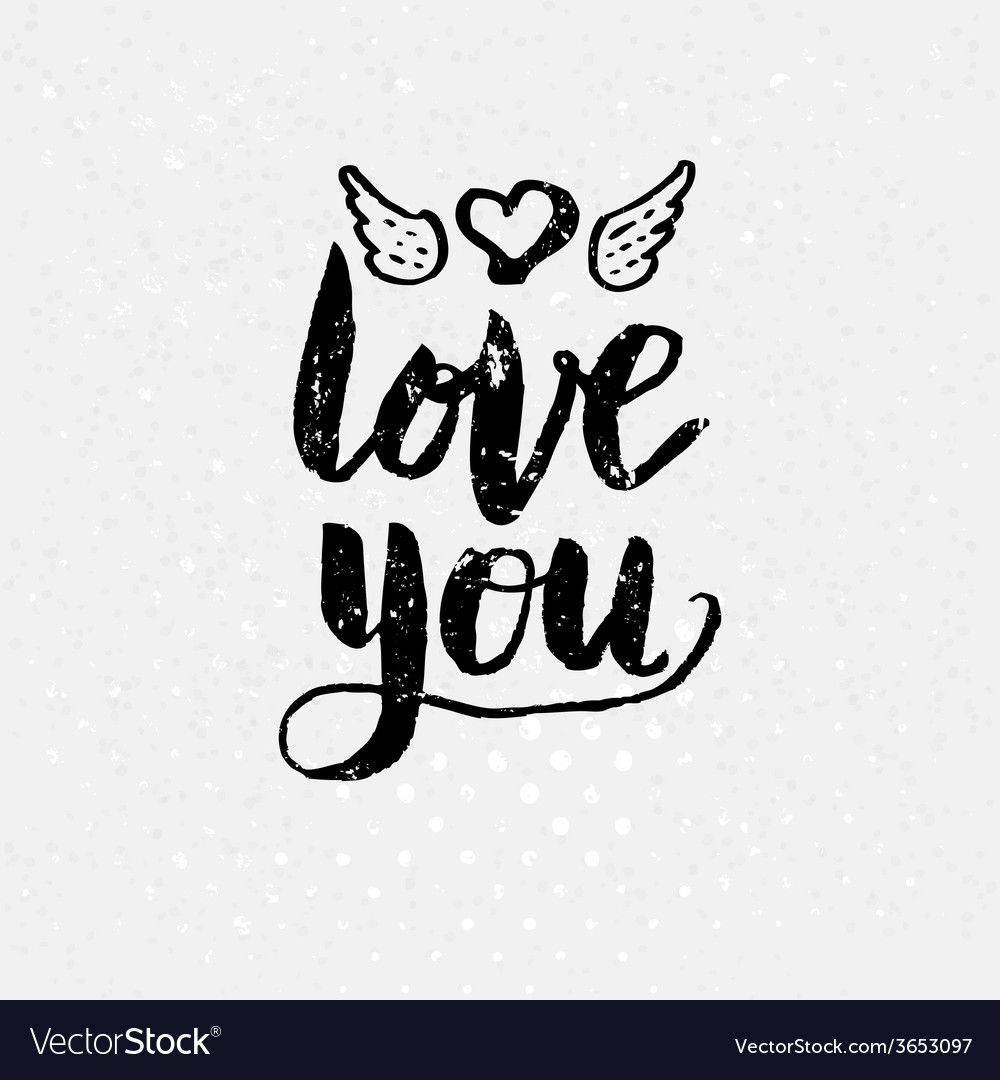 Black love you text on light background vector | Price: 1 Credit (USD $1)