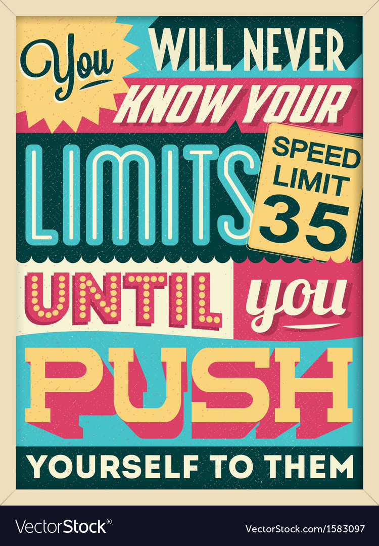 Colorful retro vintage motivational quote poster vector | Price: 1 Credit (USD $1)
