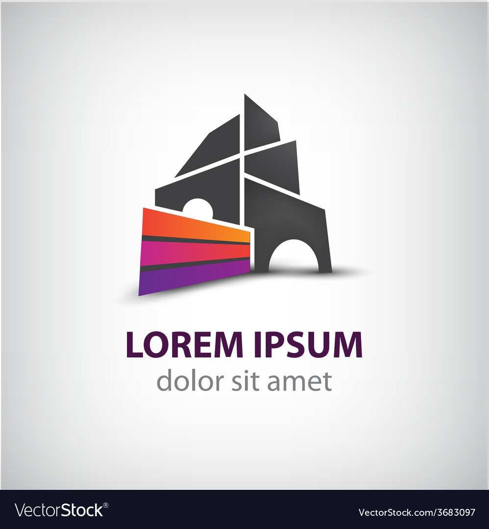 Creative building construction house vector | Price: 1 Credit (USD $1)