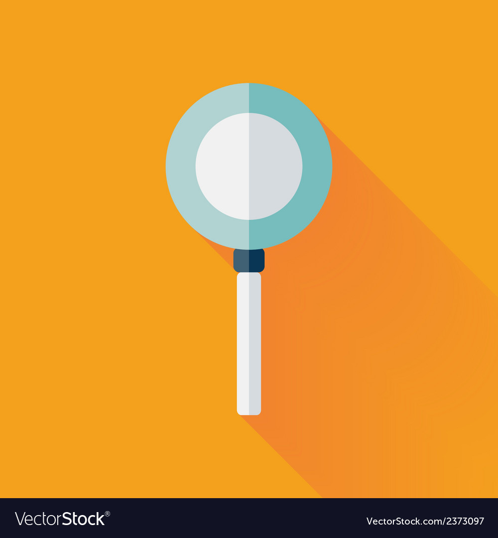 Flat loupe icon over yellow vector | Price: 1 Credit (USD $1)