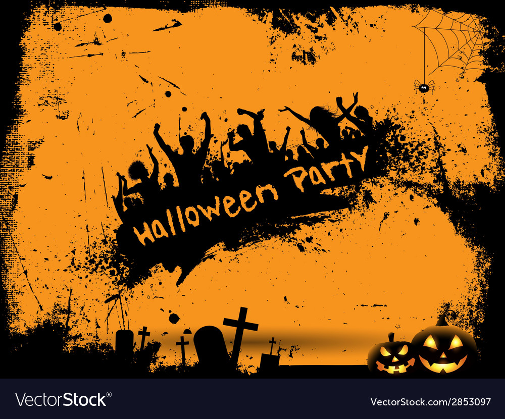 Grunge halloween party background vector | Price: 1 Credit (USD $1)