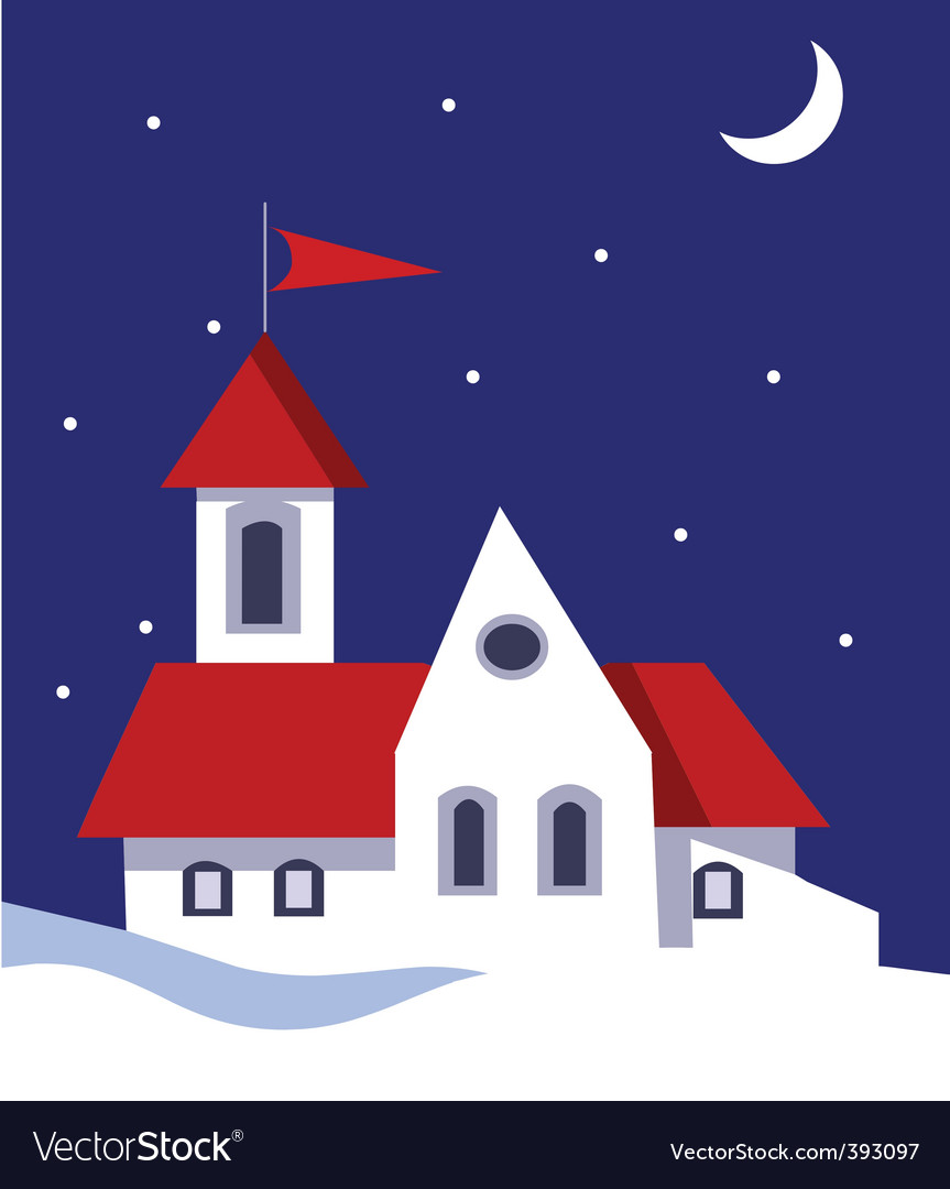 House in snow vector | Price: 1 Credit (USD $1)