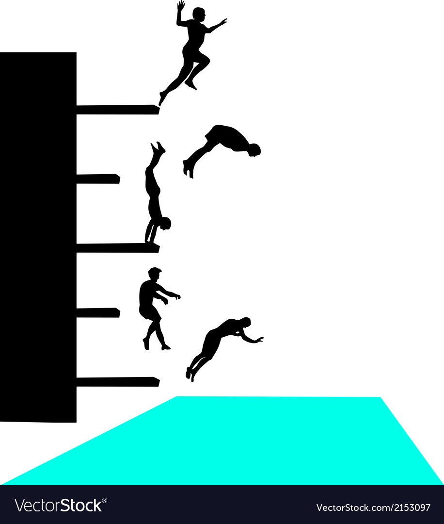 Jump into pool vector | Price: 1 Credit (USD $1)