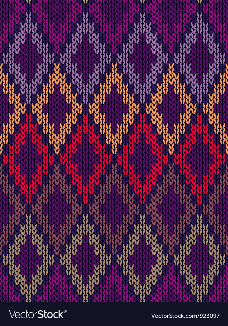 Knit woolen seamless jacquard ornament texture vector | Price: 1 Credit (USD $1)