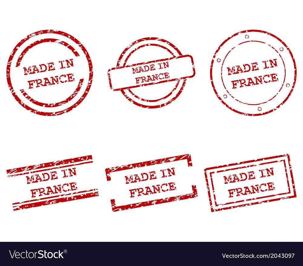 Made in france stamps vector | Price: 1 Credit (USD $1)