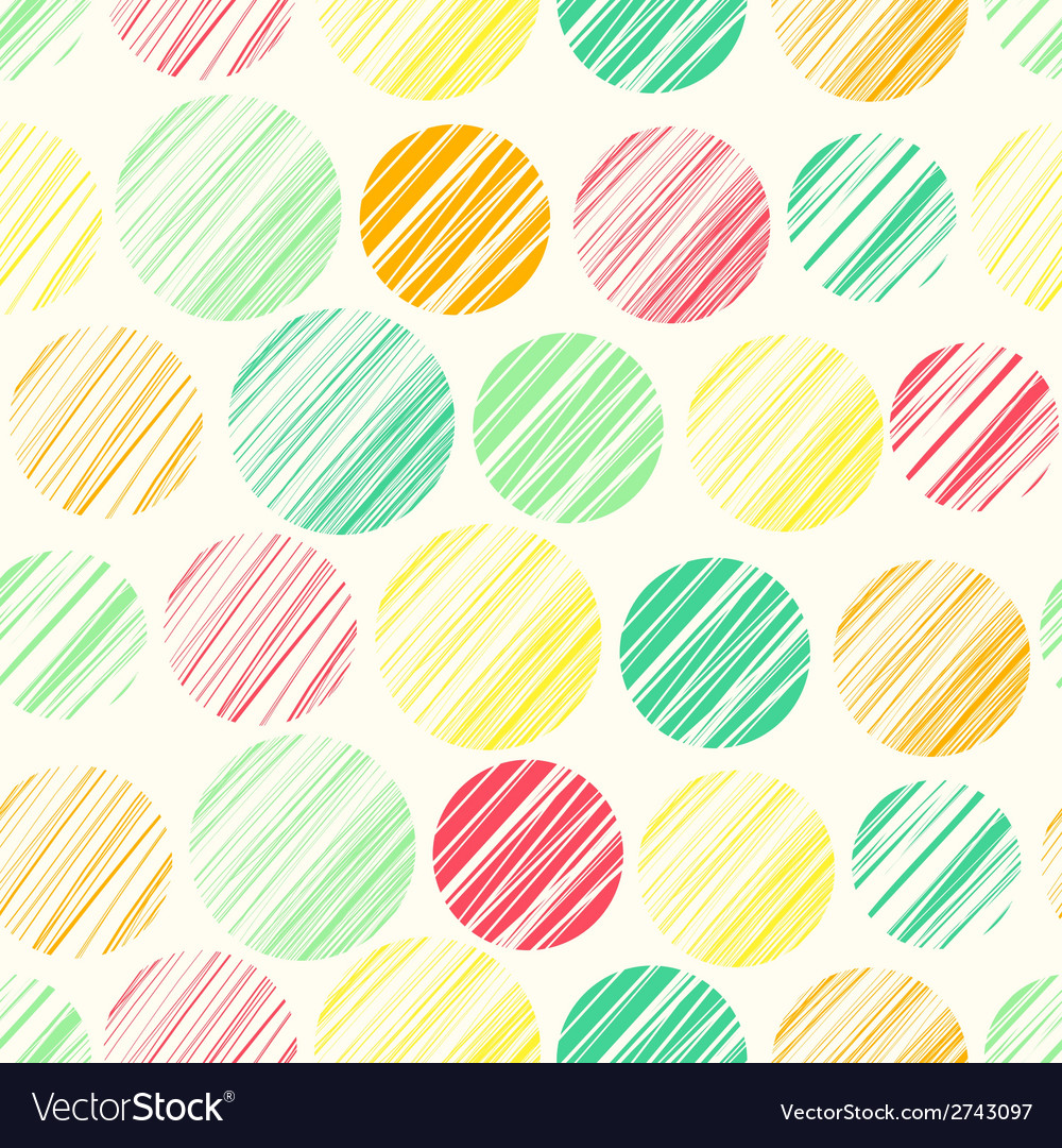 Seamless pattern with abstract polka dot ornament vector | Price: 1 Credit (USD $1)