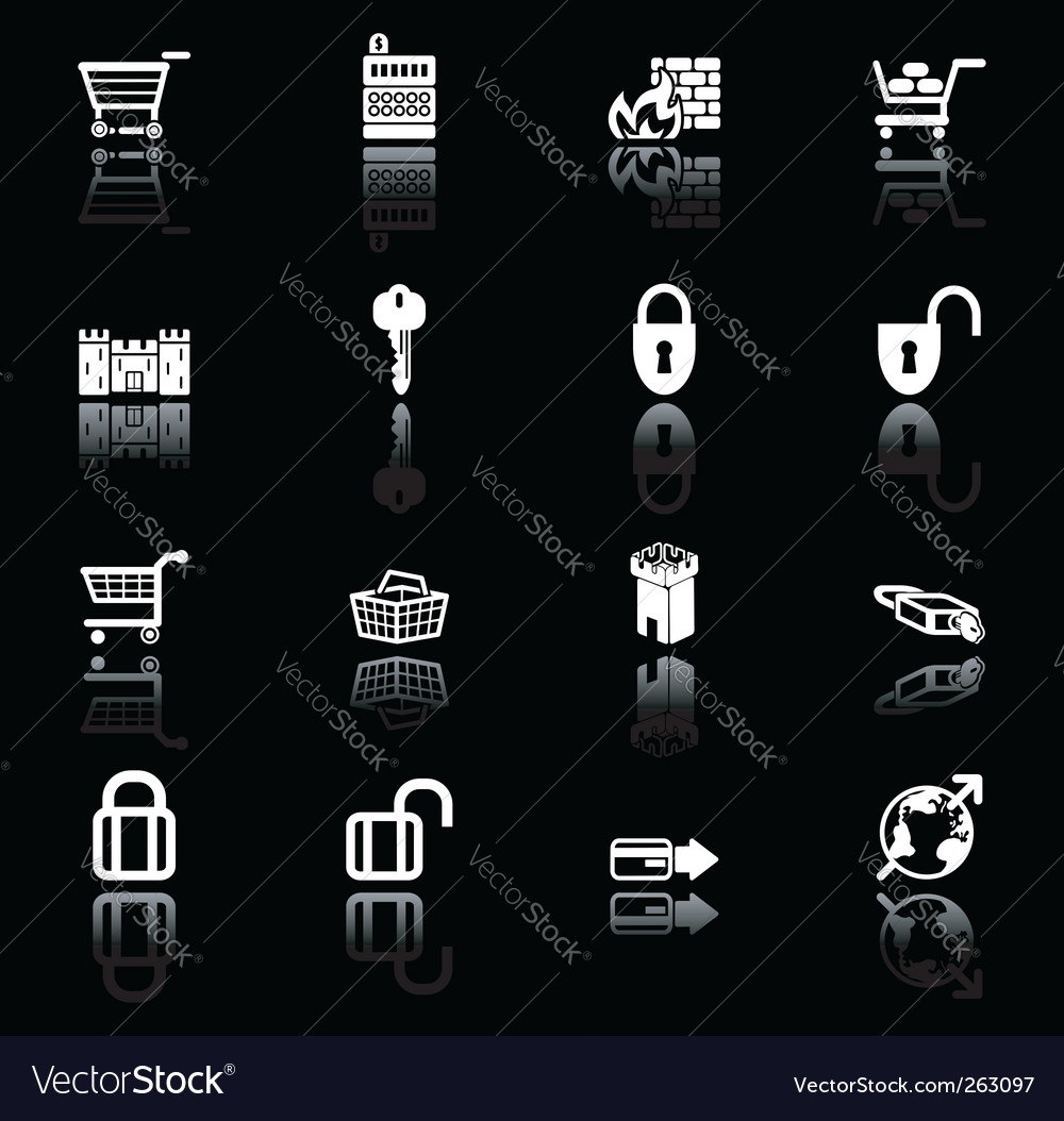 Security icon set vector | Price: 1 Credit (USD $1)