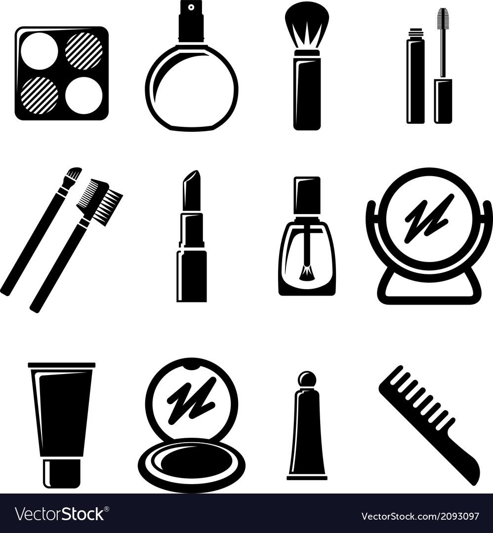 Set of cosmetics icons vector | Price: 1 Credit (USD $1)