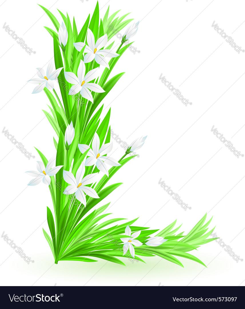 Spring flowers alphabet l vector | Price: 1 Credit (USD $1)