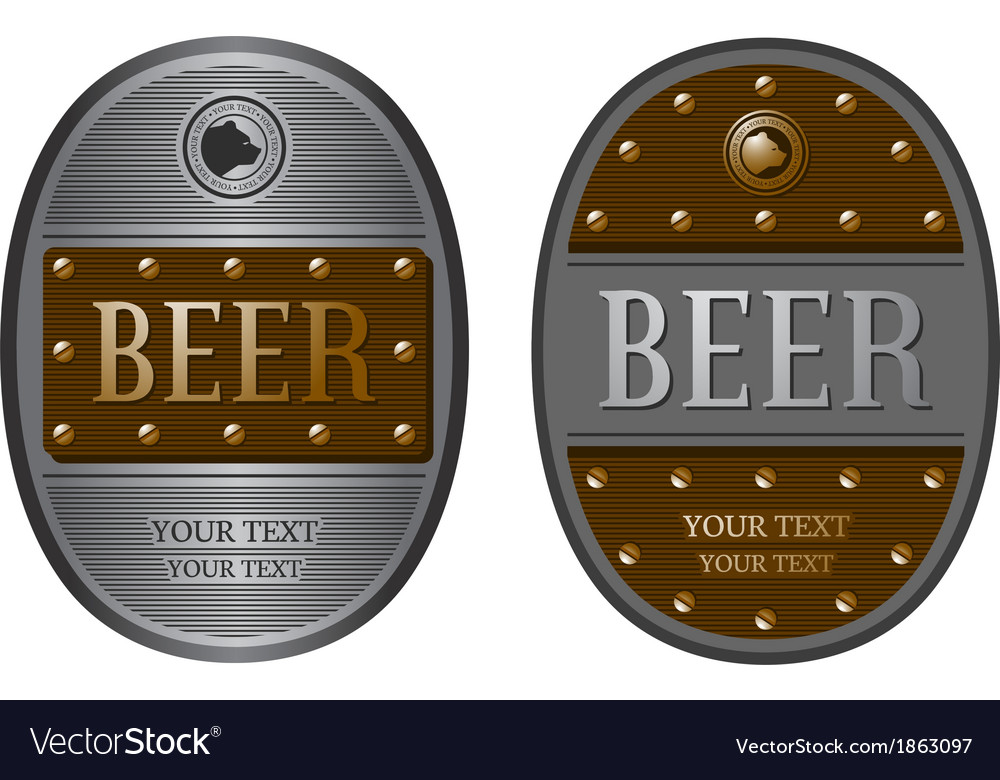 Two oval beer labels vector | Price: 1 Credit (USD $1)