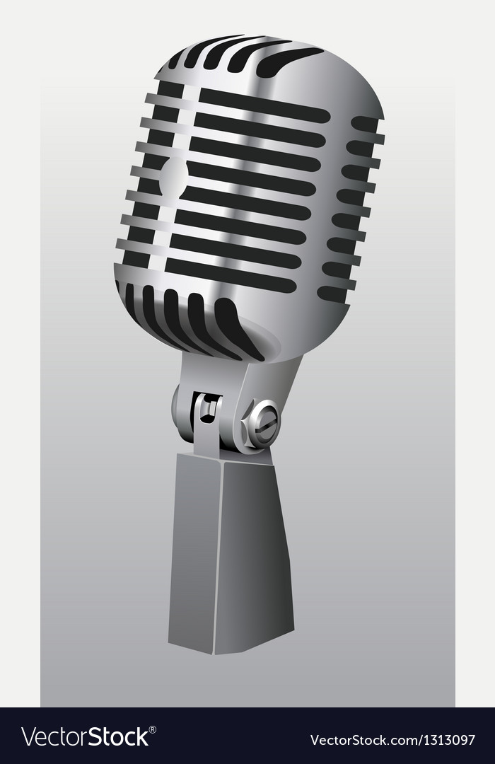 Vintage microphone vector | Price: 1 Credit (USD $1)