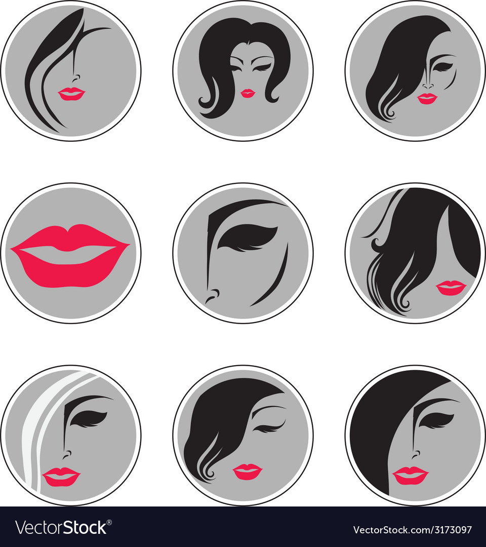 Woman hair pics vector | Price: 1 Credit (USD $1)