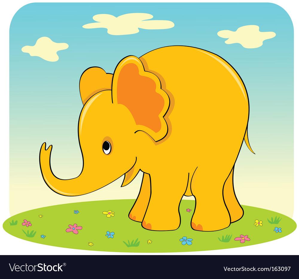 Yellow elephant vector   Price: 1 Credit (USD $1)