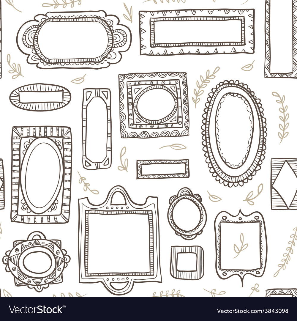 Frames seamless pattern vector | Price: 1 Credit (USD $1)