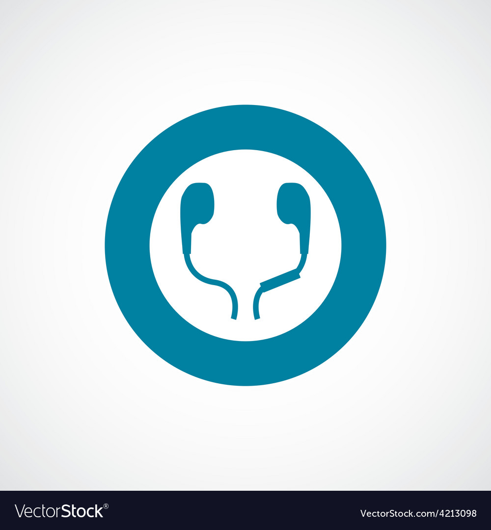 Headphones icon bold blue circle border vector | Price: 1 Credit (USD $1)