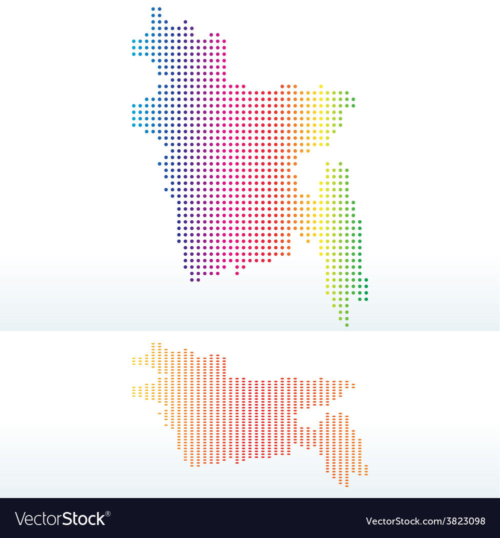 Map of peoples republic of bangladesh with with vector | Price: 1 Credit (USD $1)
