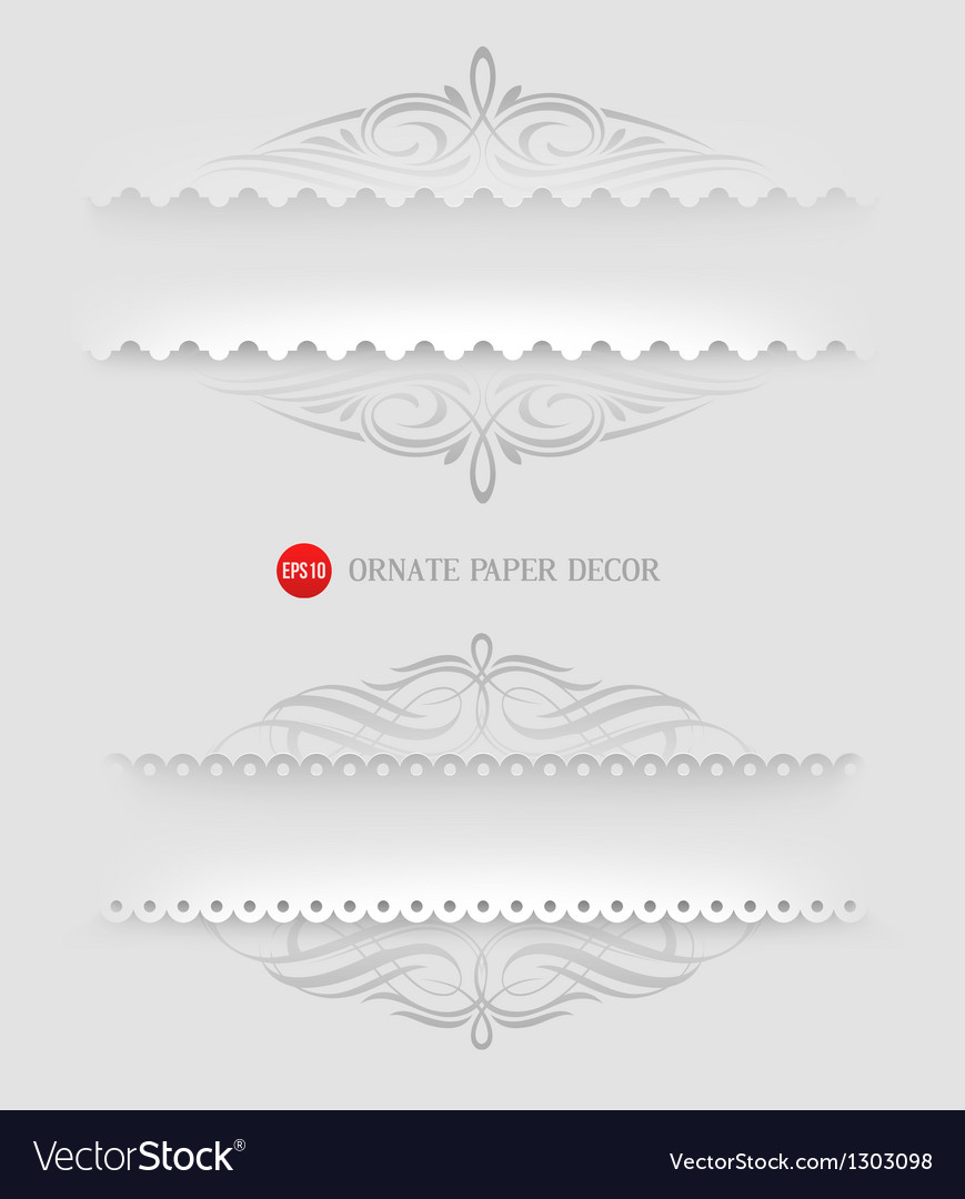 Ornamental decorative paper frames vector | Price: 1 Credit (USD $1)