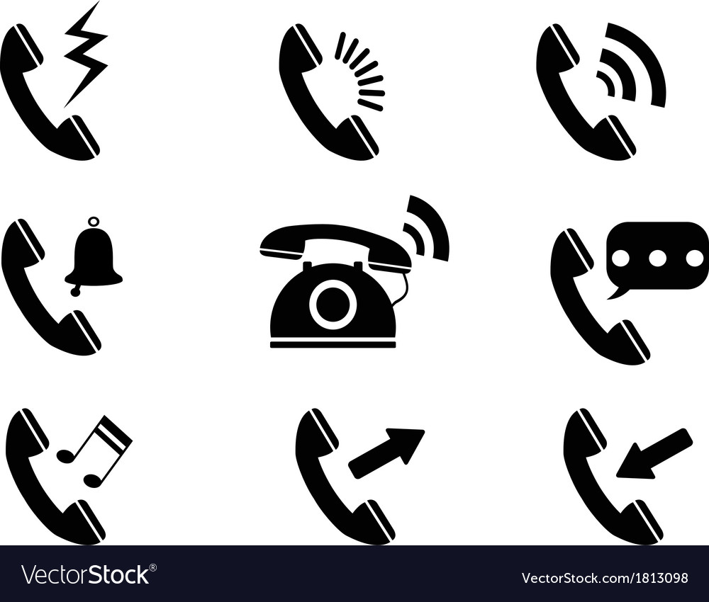 Phone ring icons vector | Price: 1 Credit (USD $1)