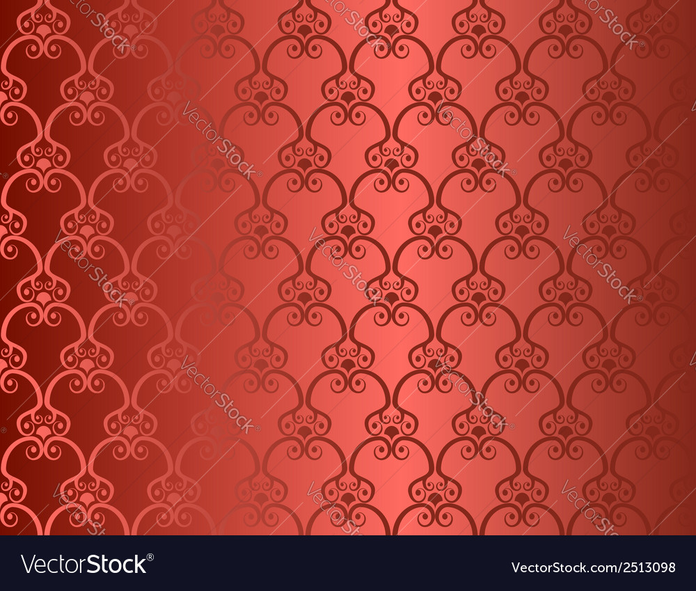 Red seamless retro wallpaper background vector | Price: 1 Credit (USD $1)