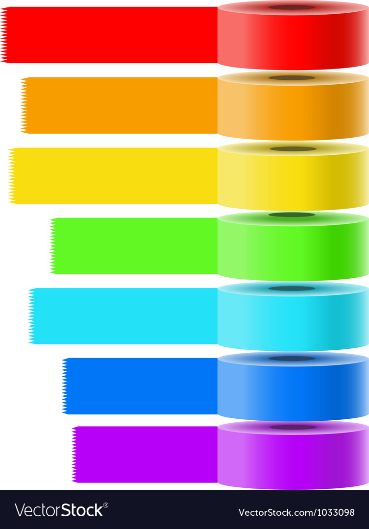 Selfadhesive tapes collection vector | Price: 1 Credit (USD $1)