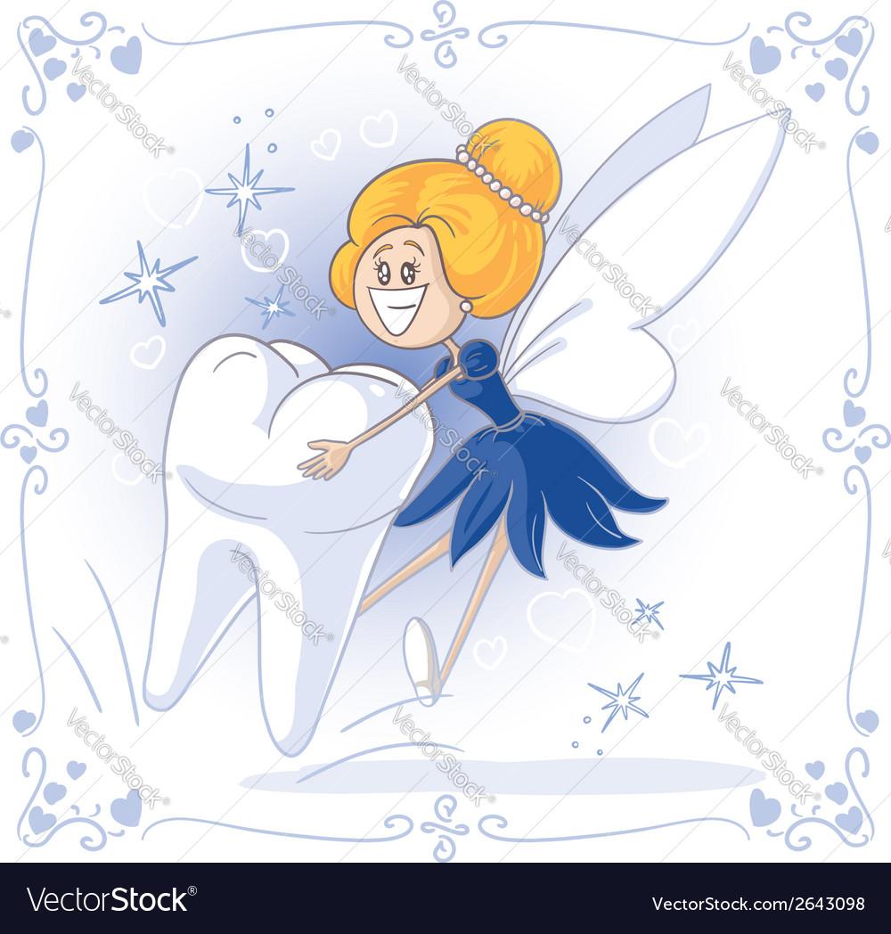 Tooth fairy cartoon vector | Price: 1 Credit (USD $1)