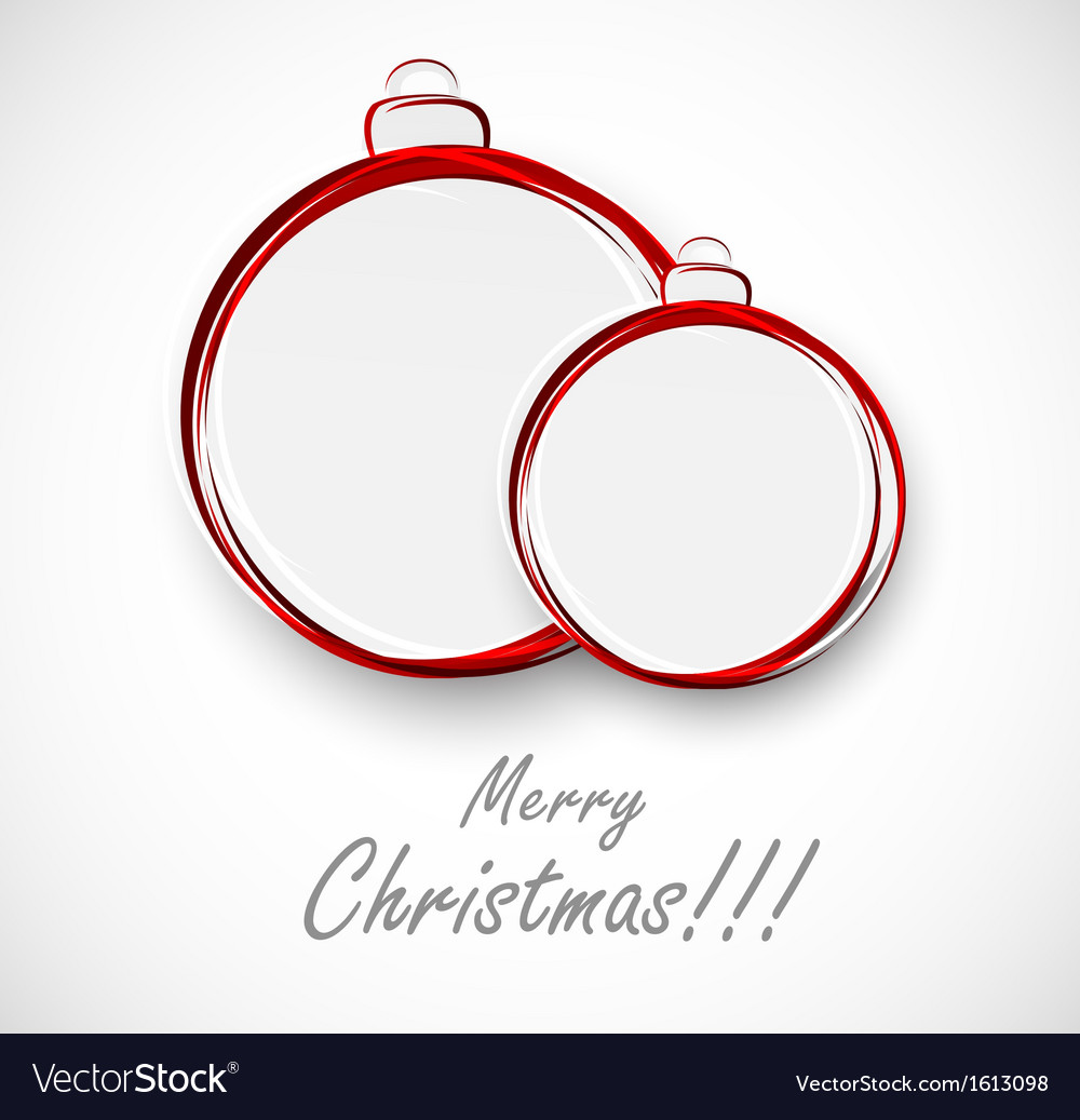 Two xmas ball vector | Price: 1 Credit (USD $1)