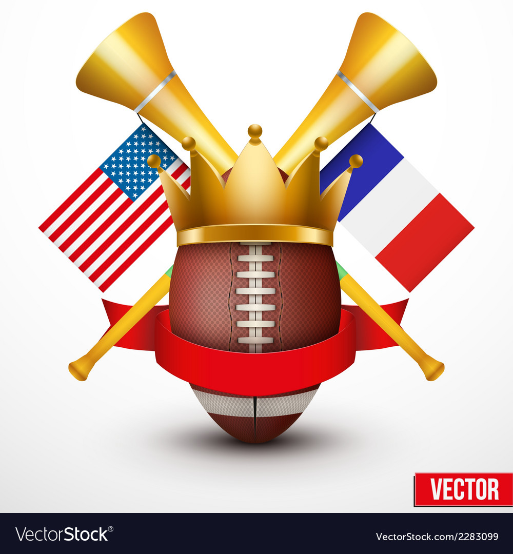 Announcement sporting poster with football ball vector | Price: 1 Credit (USD $1)