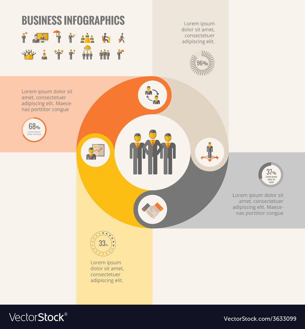Business infographic elements vector   Price: 1 Credit (USD $1)