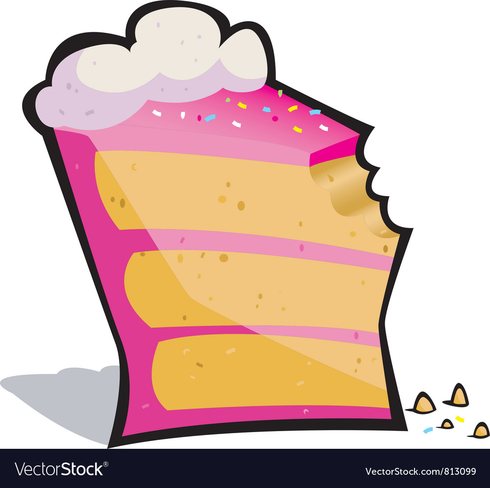 Cake bite vector | Price: 1 Credit (USD $1)