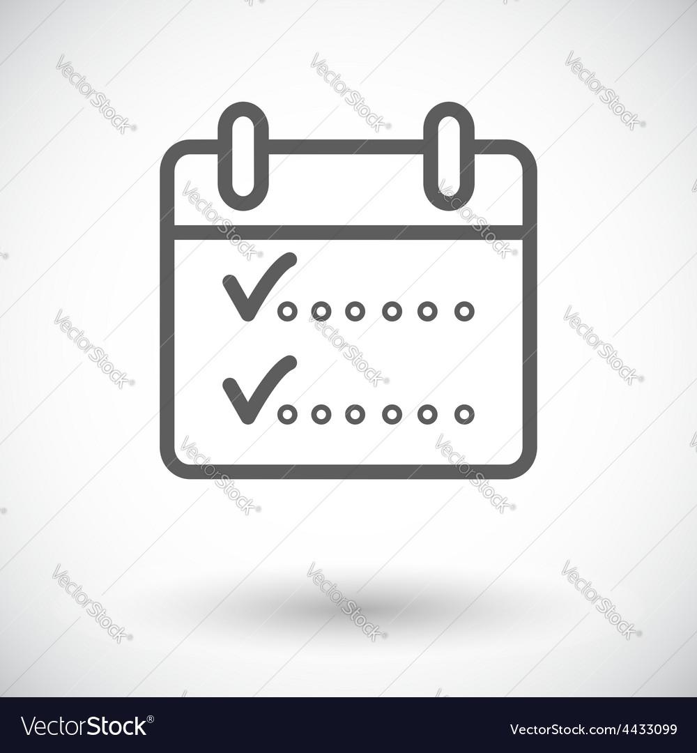 Calendar whit check vector | Price: 1 Credit (USD $1)