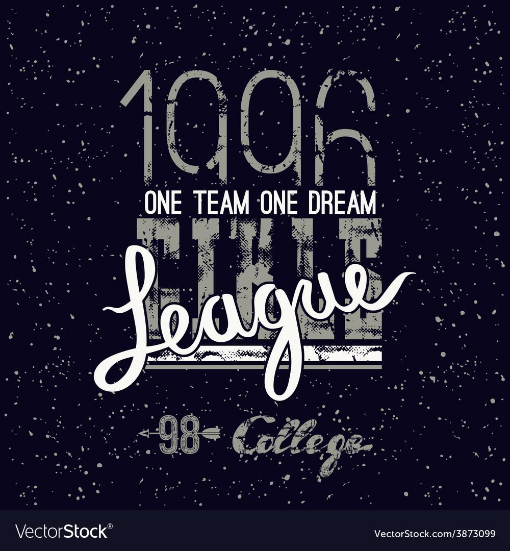 Campus league emblem vector | Price: 1 Credit (USD $1)