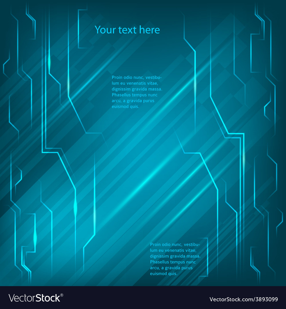 Electronics page background blue light bright line vector | Price: 1 Credit (USD $1)