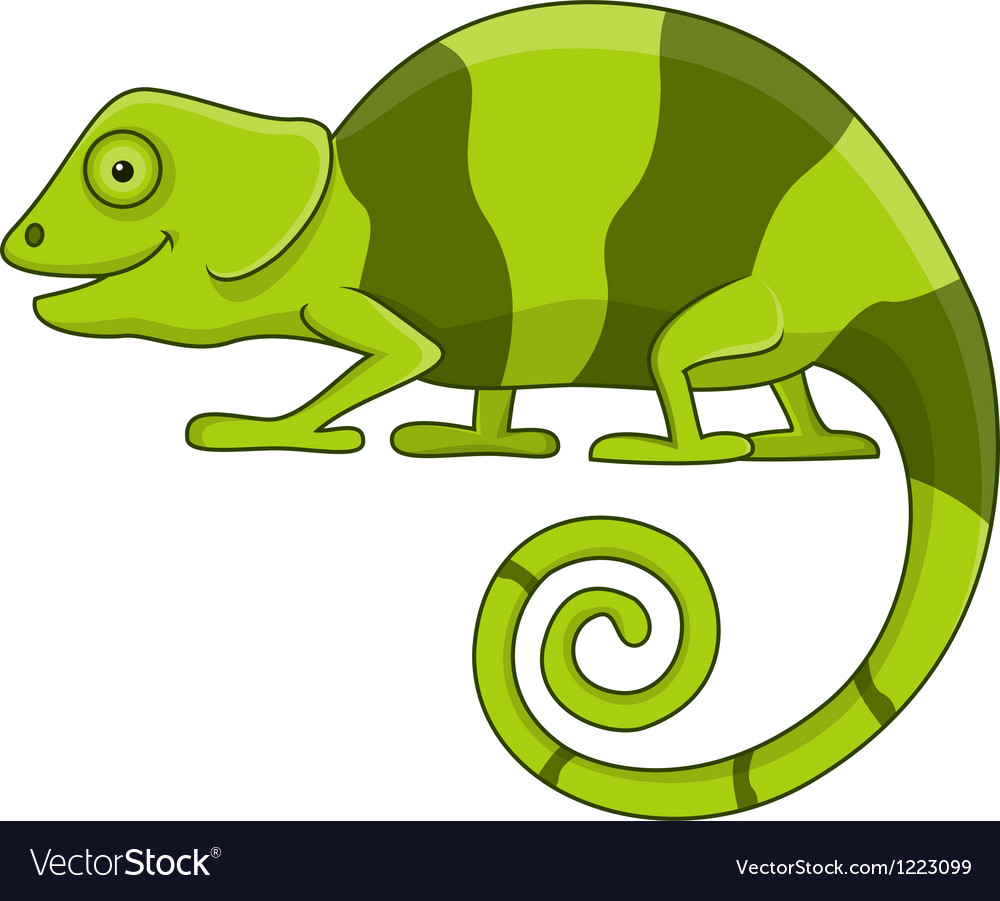Funny chameleon cartoon vector | Price: 3 Credit (USD $3)