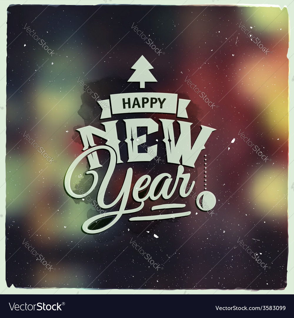 Happy new year creative graphic message for winter vector | Price: 1 Credit (USD $1)
