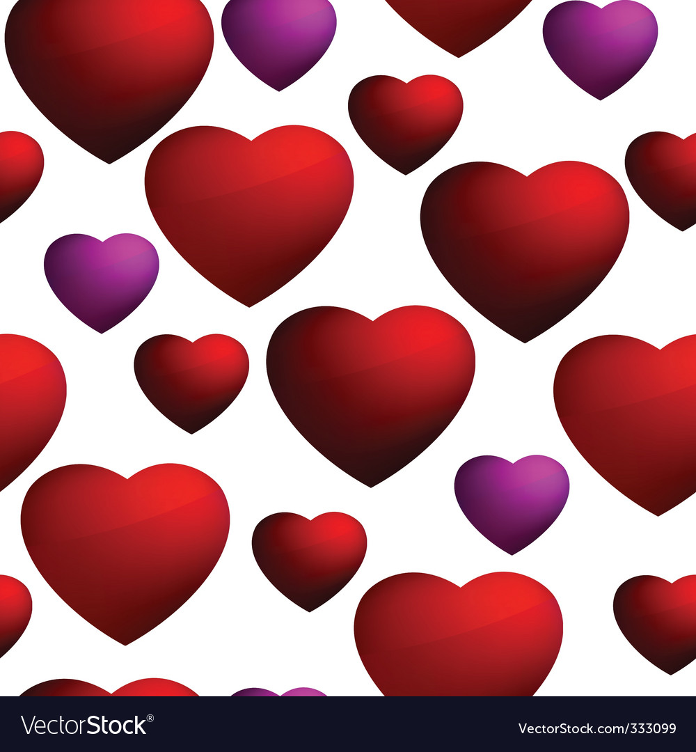 Heart seamless background pattern vector | Price: 1 Credit (USD $1)