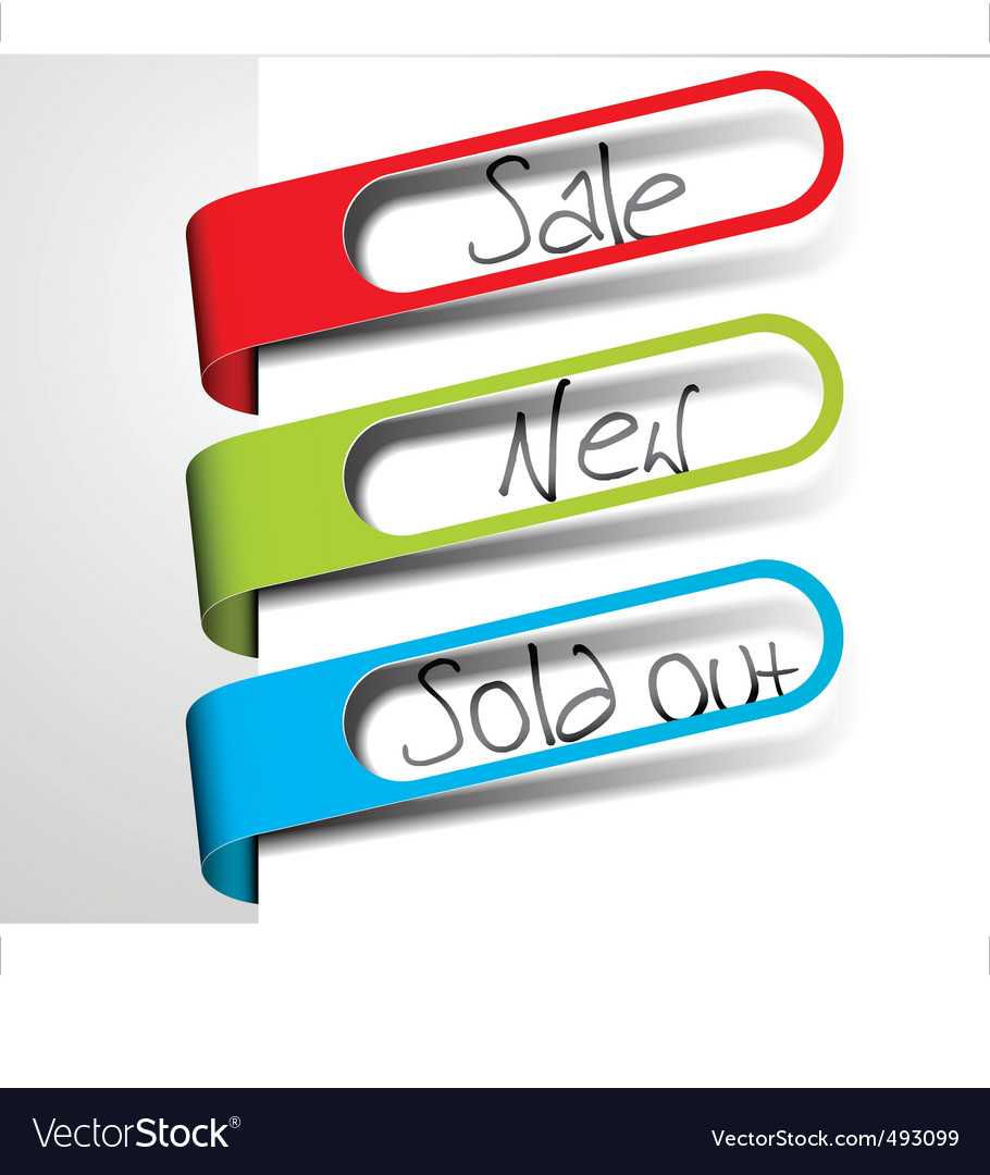 Retail tags vector | Price: 1 Credit (USD $1)