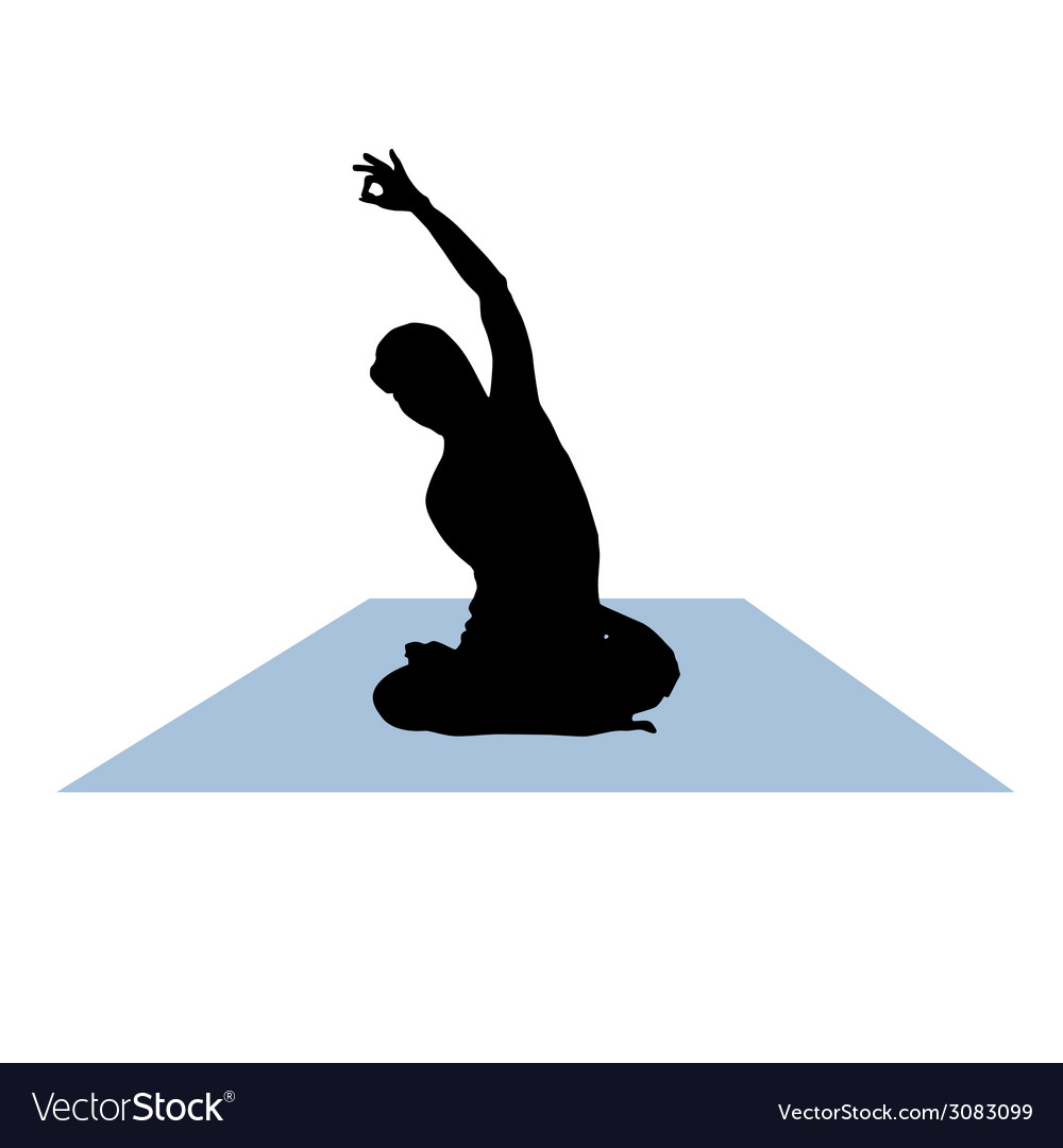 Yoga woman vector | Price: 1 Credit (USD $1)