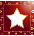 Red christmas star background and border vector