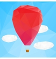 Hot air ballon poplygonal vector