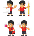 Soccer boy customizable mascot 9 vector