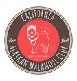 Alaskan malamute club california tee graphic vector