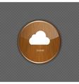 Cloud apps icon vector