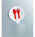 Plate with the image of spoon and fork vector